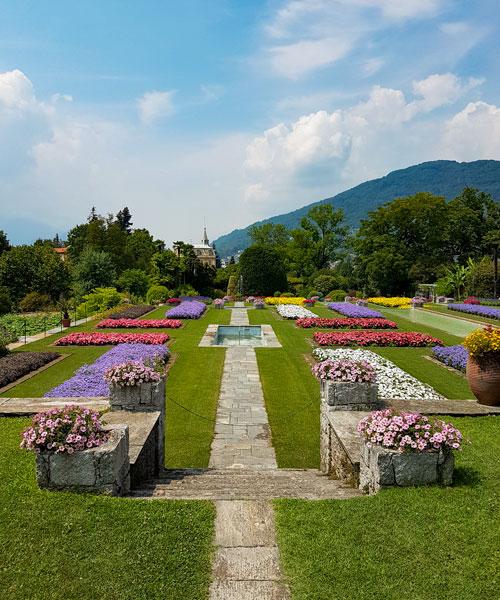 I giardini botanici di Villa Taranto, le aiuole di annuali