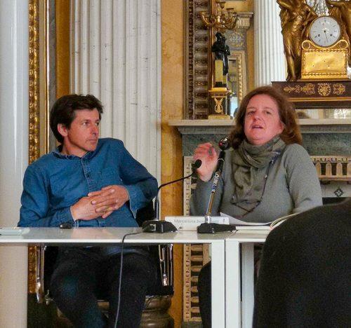 """James Basson e Clémence Chupin a """"Le Giornate di Studi di Orticola di Lombardia""""."""