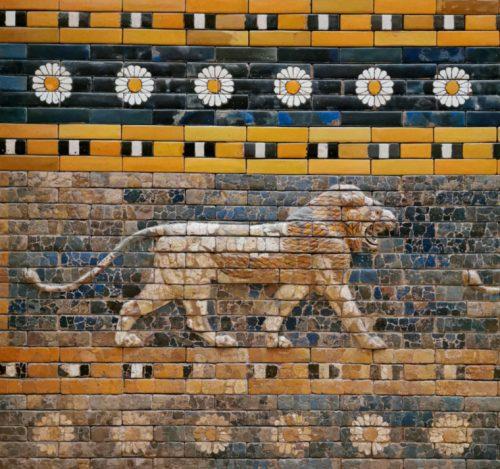 La natura era parte integrante dell'arte e delle decorazioni sin dall'antica Babilonia, questa è la Via Processionale