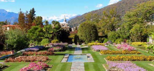 I giardini terrazzati dell'Orto Botanico di Villa Taranto