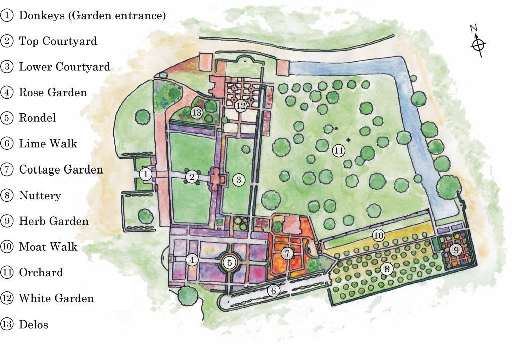 Sissinghurst Castle Garden Map