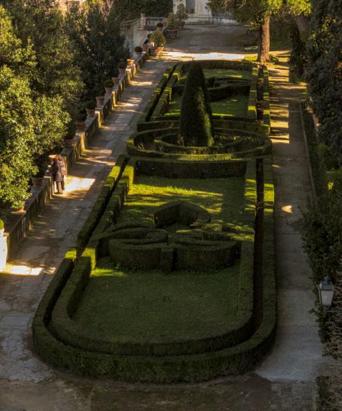 giardini all'italiana a Villa d'Este a Tivoli